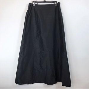 New Liz Claiborne Silk Maxi Black Skirt